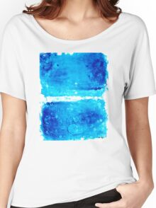 Blue Modern Art - Two Pools - Sharon Cummings Women's Relaxed Fit T-Shirt