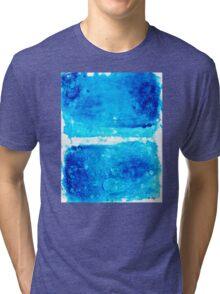 Blue Modern Art - Two Pools - Sharon Cummings Tri-blend T-Shirt