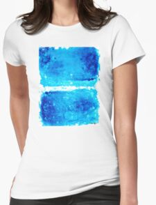 Blue Modern Art - Two Pools - Sharon Cummings Womens Fitted T-Shirt