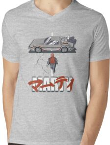 Back to the Future - Akira Mens V-Neck T-Shirt