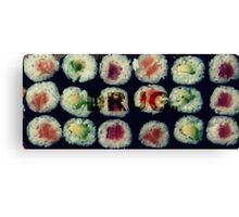 Sushi addict. Canvas Print