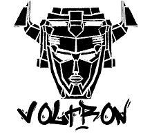 Voltron Head Street Art by samohtlion