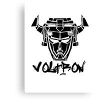 Voltron Head Street Art Canvas Print