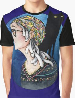 The Watcher and the Dreamer: color Graphic T-Shirt