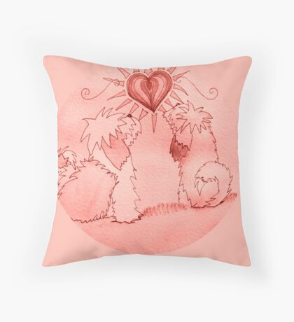 Puppy Love Throw Pillow