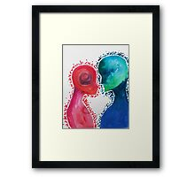 The Girl and The Alien  Framed Print
