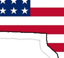 American flag Massachusetts outline Sticker