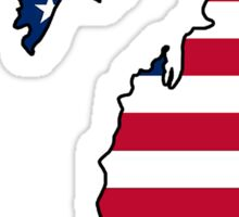 American flag Michigan outline Sticker