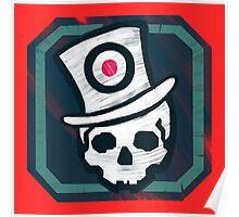 Hat Trick Skull  Poster