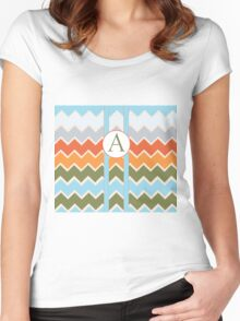 A Chevron Women's Fitted Scoop T-Shirt
