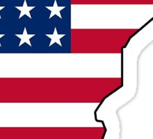 American flag Minnesota outline Sticker