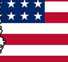 American flag Mississippi outline Sticker
