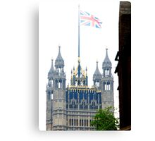 Parliament on the Royal wedding day of Prince William & Kate Canvas Print