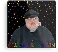 George R.R. Partyin' Metal Print