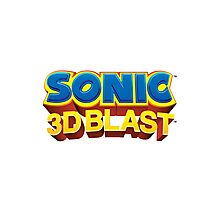 Sonic 3D BLAST Logo Photographic Print