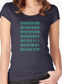 Bitcoin Binary (Silicon Valley) Women's Fitted Scoop T-Shirt