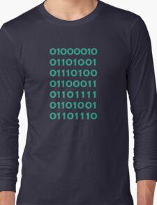 Bitcoin Binary (Silicon Valley) Long Sleeve T-Shirt