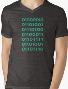 Bitcoin Binary (Silicon Valley) Mens V-Neck T-Shirt
