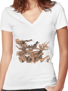 Wild Women's Fitted V-Neck T-Shirt