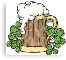 Beer Mug in Cartoon Style Canvas Print