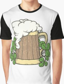 Beer Mug in Cartoon Style Graphic T-Shirt