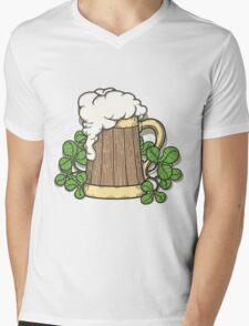 Beer Mug in Cartoon Style Mens V-Neck T-Shirt