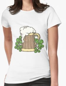 Beer Mug in Cartoon Style Womens Fitted T-Shirt