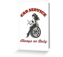 Car Service Retro Poster Greeting Card