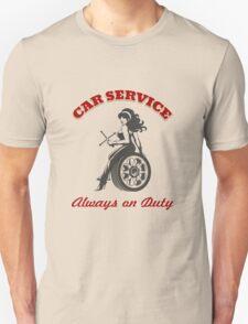 Car Service Retro Poster Unisex T-Shirt