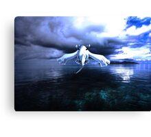 Lugia accros the sea Canvas Print