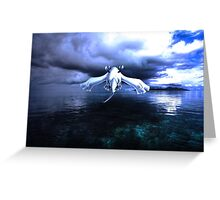 Lugia accros the sea Greeting Card
