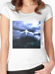 Lugia accros the sea Women's Fitted Scoop T-Shirt