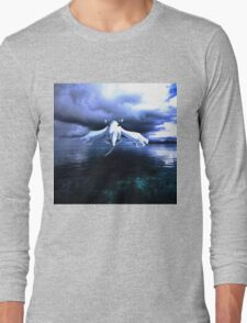 Lugia accros the sea Long Sleeve T-Shirt