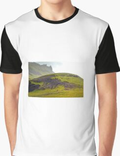 South Iceland Landscape Graphic T-Shirt