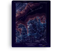 New York NY Oyster Bay 136370 1900 62500 Inverted Canvas Print