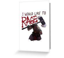 Grog would like to... Greeting Card