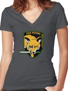 MGS -  Foxhound SFG Logo Women's Fitted V-Neck T-Shirt