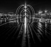 Southport Pier in the night by Paul Madden
