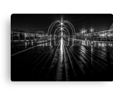 Southport Pier in the night Canvas Print
