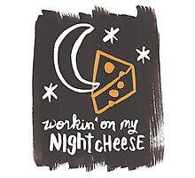 Workin' on my Night Cheese Photographic Print