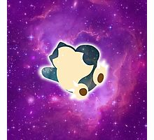 Galaxy Snorlax Photographic Print