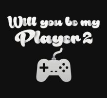 Will you be my player 2 - version 1 - white by Supreto