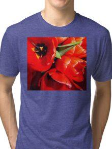Flaming Tulips Tri-blend T-Shirt
