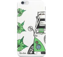 VW Camper Van Green Splity iPhone Case/Skin