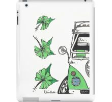 VW Camper Van Green Splity iPad Case/Skin