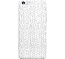 Geometric gray pattern iPhone Case/Skin