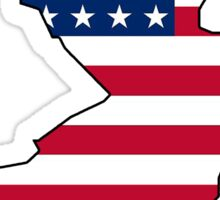American flag New Jersey outline Sticker