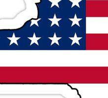 American flag New York outline Sticker