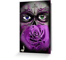 Skull-rose Greeting Card