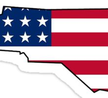 American flag North Carolina outline Sticker